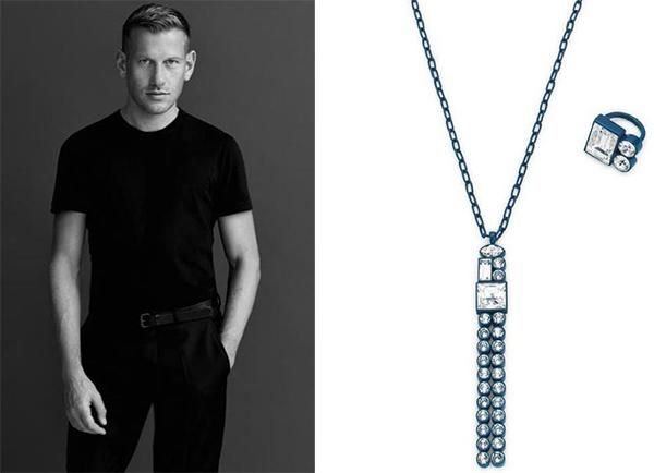 鞋类设计师Paul Andrew跨界的几何造型珠宝灵感来自多米诺骨牌。