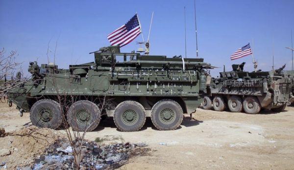"""材料图片:部署在叙利亚的美军""""斯特赖克""""轮式战车。(图片来历于网络)"""