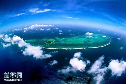 位于中国南海西北部的西沙群岛