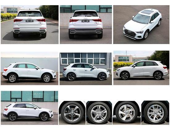 国产全新奥迪Q3外形基于海外版车型设计,采用了家族最新设计风格,相比于现款奥迪Q3整体视觉更激进、运动,前大灯、大嘴式格栅及前保险杠等细节设计富有攻击性。车身尺寸方面,新车长宽高分别为4481(4495)mm/1848mm/1616(1584)mm,轴距达到2680mm。车尾变化不大,线条设计变得硬朗,细节调整增强立体视觉效果。