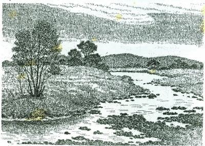简易小木屋住下的念头,摆脱操心事,欣赏大自然,从事喜爱的绘画和木雕图片