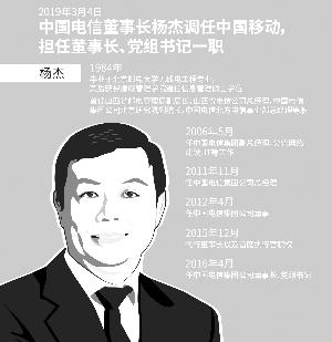 杨杰接任中国移动董事长 将直面5G商用课题
