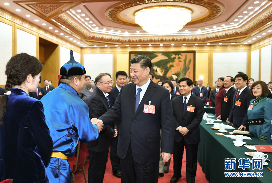 2019年3月5日,习近平参加十三届全国人大二次会议内蒙古代表团的审议。新华社记者 谢环驰