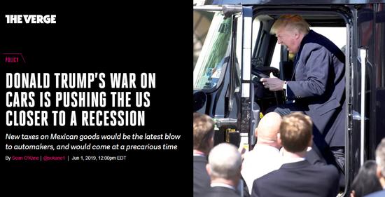 新浪美股 北京时间6月3日讯,当唐纳德-特朗普总统上周宣布对墨西哥商品征收新关税时,他对汽车制造商发动了自当选前以来的最大战争,这是他发动的汽车战争中的最新一击。这并不是说他一定会坚持到底,也不是说他会实施他对从欧洲和日本进入美国的汽车征收的其他关税。美国和墨西哥也可能在6月10日生效之前达成协议。