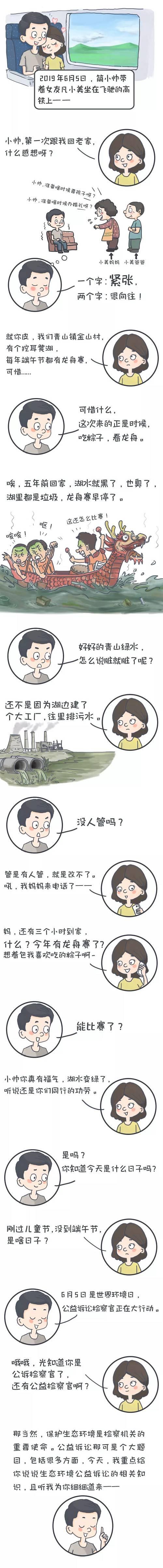 """【漫画】今天,我们聊聊""""挖耳凳湖""""龙舟赛与检察官有啥关系?"""