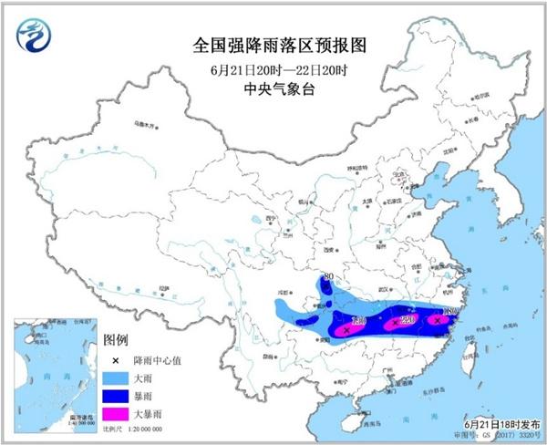 暴雨黄色预警 湖南江西等5省局地有大暴雨
