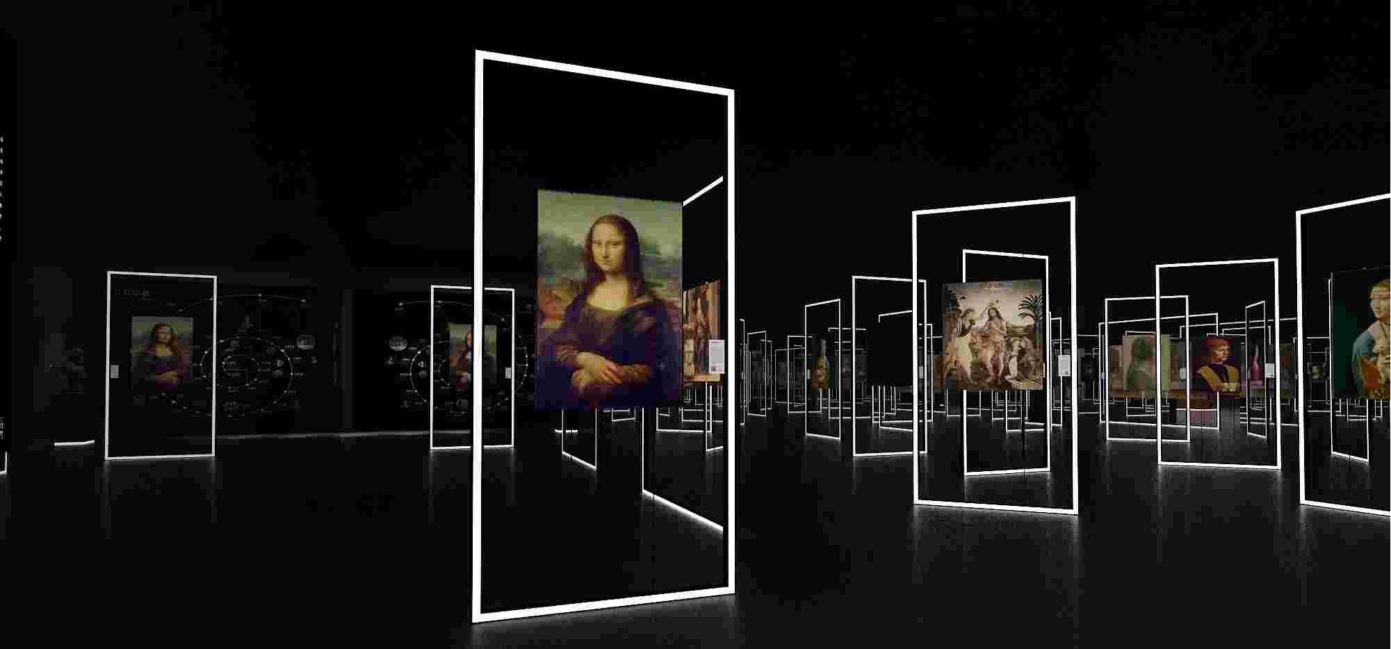 达芬奇油画作品高清影像(图片来源:主办方提供)
