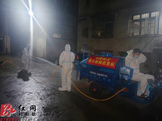 祁阳:洪水退后忙消毒 确保灾后无大疫