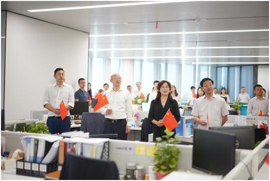 国华人寿晨会唱响红歌 献礼祖国