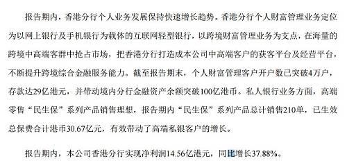 8月14日开盘,民生银行A股涨0.3%,港股涨1.5%。