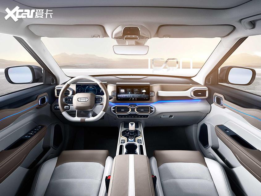 吉利icon内饰官图发布全新紧凑型SUV