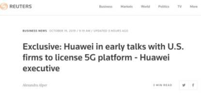 突发!任正非说到做到!华为正与美企谈判,授权转让5G技术!更有40万套设备发往全球