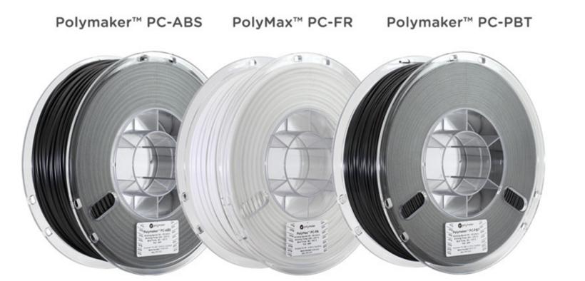 Polymaker推出三种新型聚碳酸酯3D打印材料 通常用于汽车行业