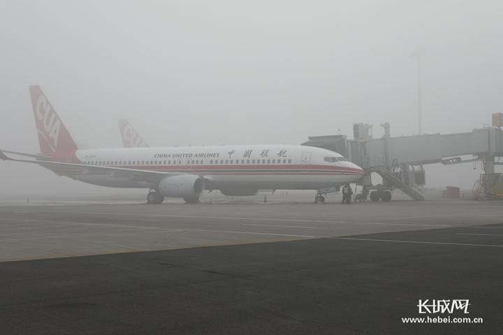 视频|受大雾影响 石家庄机场进出港48个航班延误 4个航班取消