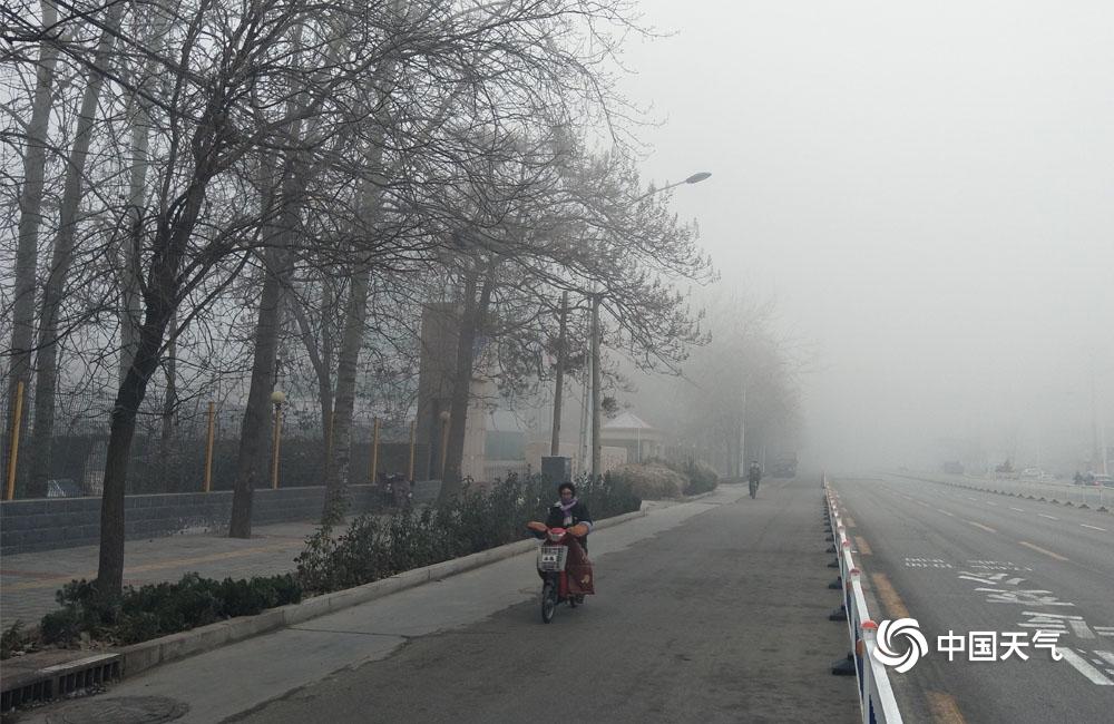 河北平原多地大雾现身  局地能见度不足200米