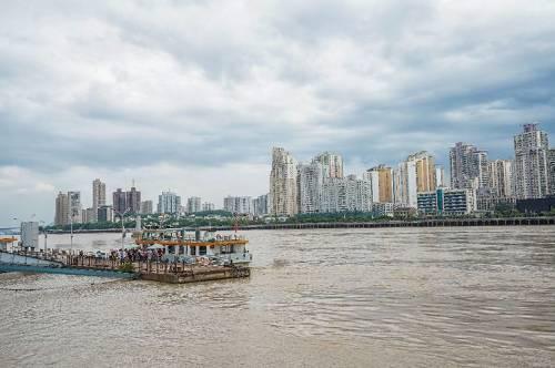 温州地标瓯江江心屿 图片来源:摄图网