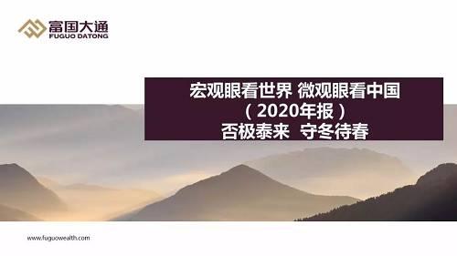 【重磅推荐】富国大通2020年度宏观经济及投资策略白皮书