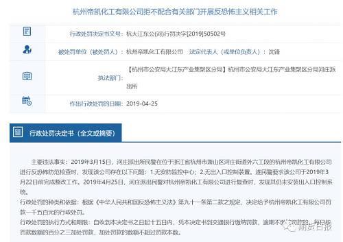 突发!杭州一化工厂爆炸起火,相关公司今年两次受罚,化工行业将面临新一轮整顿?