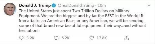 """超级""""黑天鹅""""!火箭弹突袭美军,特朗普放狠话:锁定伊朗52个攻击目标!全球股市""""屏住呼吸"""""""