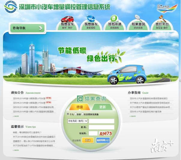 2020年深圳小汽车增量指标