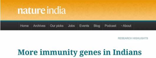 印度人有更众免疫基因