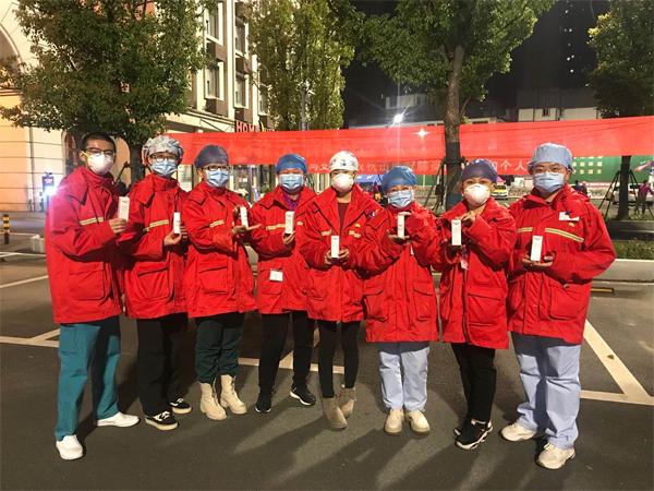 支援武汉医疗队收到物资