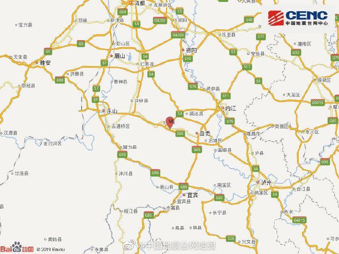 四川自贡市荣县发生3.0级地震 震源深度8千米