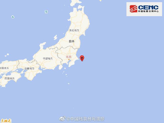 日本本州东岸近海发生5.9级地震 震源深度20千米