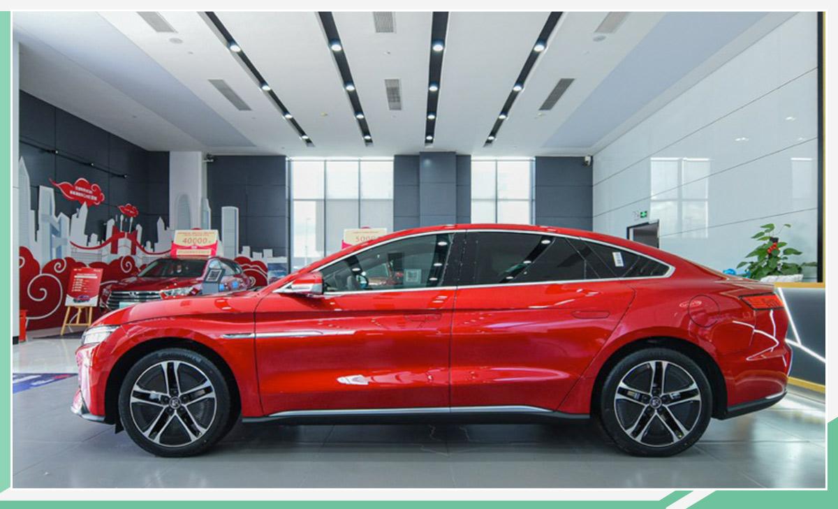 比亚迪汉EV实车到店 订单已破万/7月10日上市