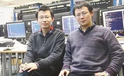 寒武纪创始人陈天石(左)和哥哥 陈云霁(右)