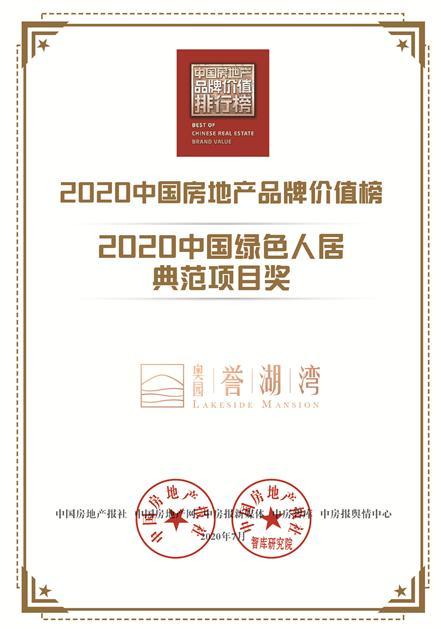 喜报!中国奥园荣登中国房地产品牌价值24名 品牌价值达605亿元
