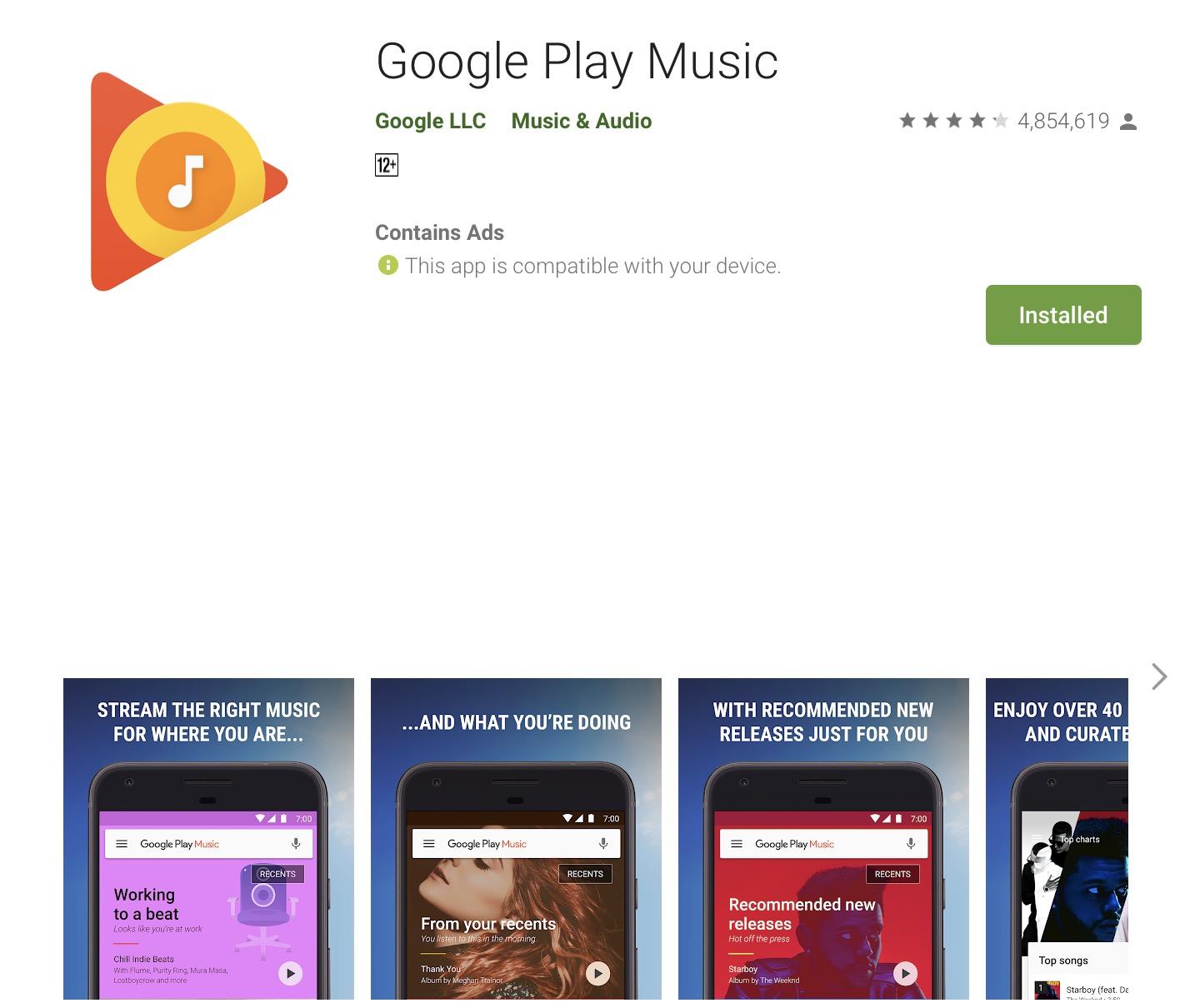 Google Play Music今年内关闭 取代它的是YouTube Music