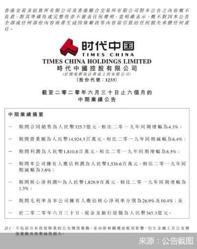 非典型房企半年报观察   旧改零进账 时代中国主动降速后的新困局