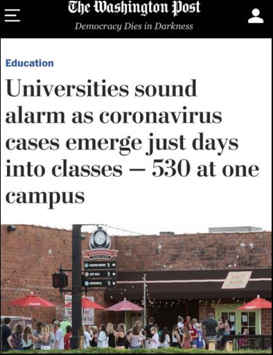 北美观察丨学生感染激增 教师抗议不断 美国开学季里一团麻