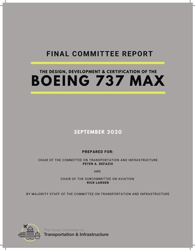 波音737 MAX空难报告发布 揭美航空监管存严重问题