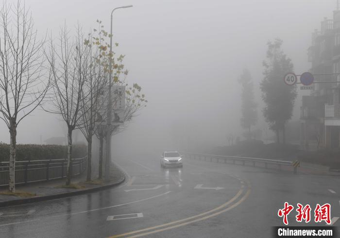 重庆遭遇大雾天气 部分地区能见度不足百米