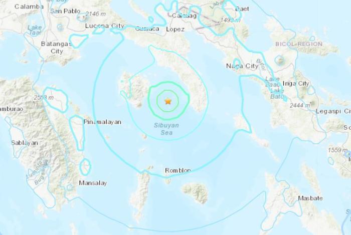 菲律宾附近海域发生5.5级地震 震源深度23.2公里