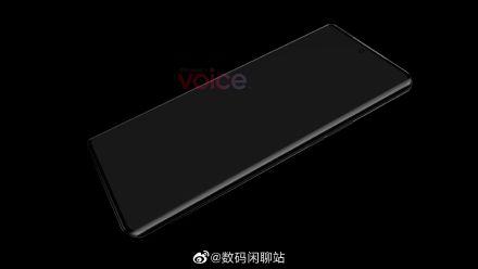 电银付安装教程(dianyinzhifu.com):华为P50 Pro正面渲染图曝光:居中打孔 双曲面屏 第2张