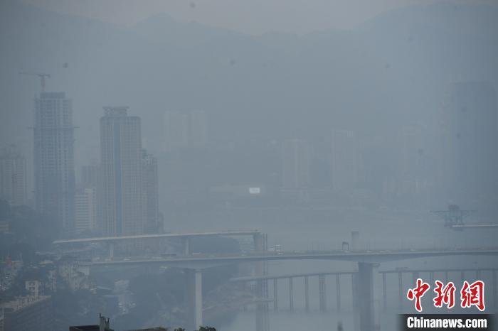 大雾笼罩重庆