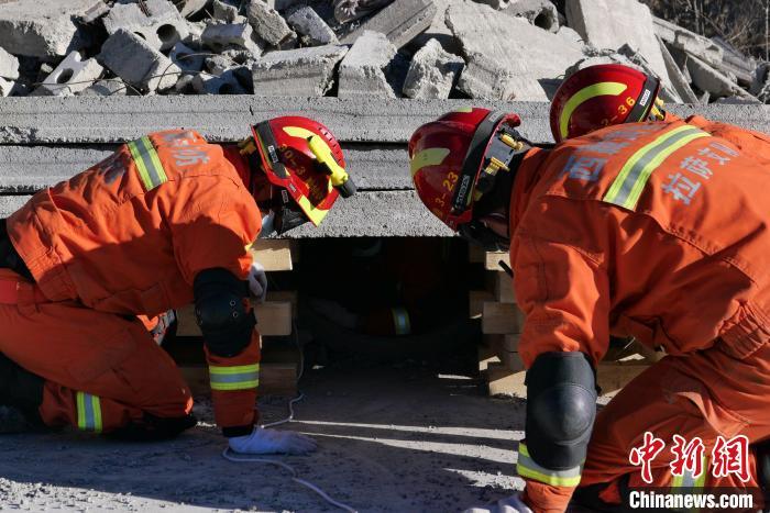 西藏消防开展地震应急救援演练