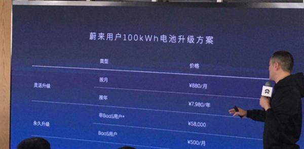 蔚来100kWh电池升级延期两月