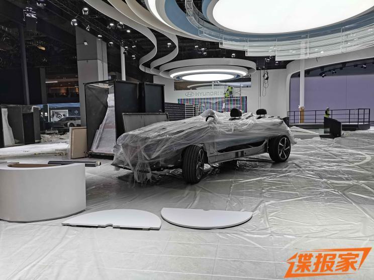 2021上海车展探馆:现代E-GMP平台底盘