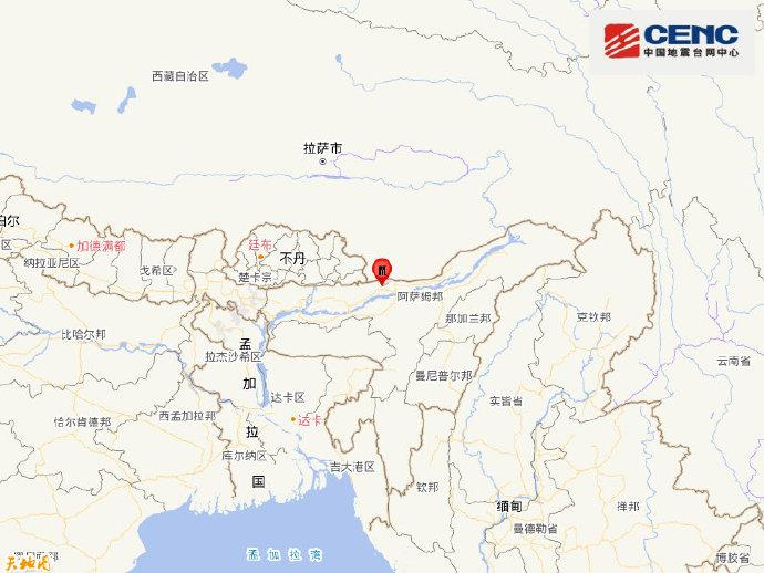 印度北部地区发生6.2级地震,震源深度10千米
