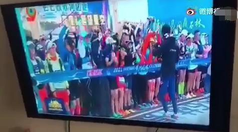 马拉松事故次日 电视台重播开幕式:具体什么情况?