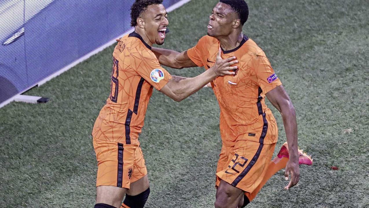 欧洲杯荷兰2-0奥地利,德佩点射建功,邓弗里斯连续两场破门
