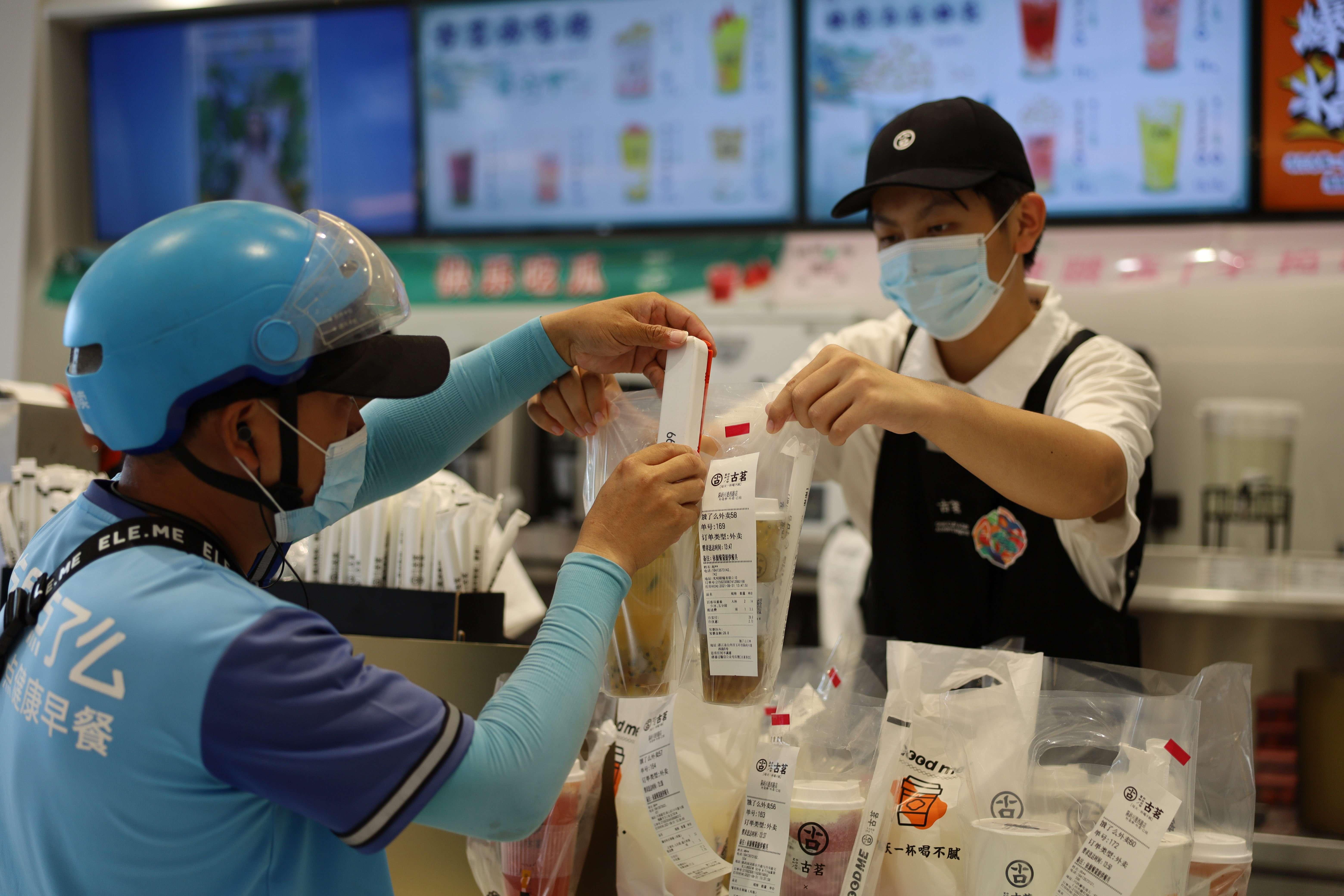 浙江玉环:启用电子封签 确保外卖无二次污染