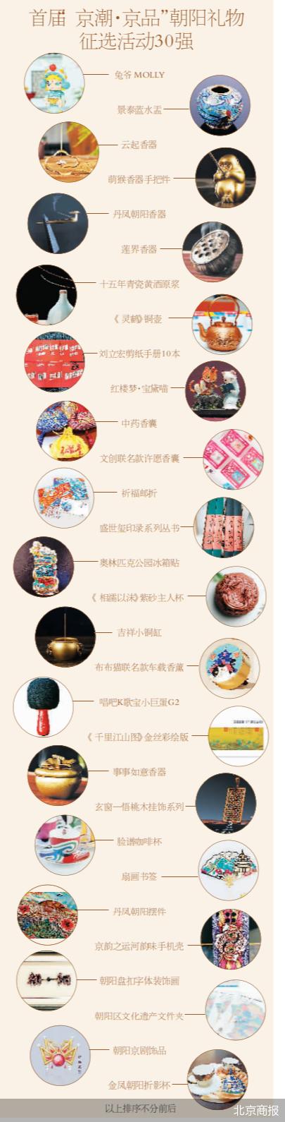 """首届""""京潮·京品""""朝阳礼物征选活动30强"""