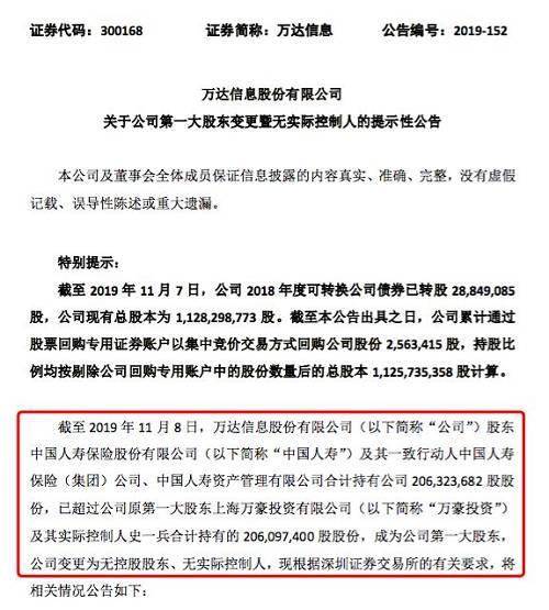 不惜代价闪电买入!中国人寿斥资28.5亿,拿下万达信息第一大股